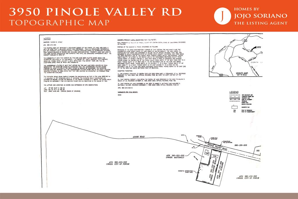 3950 Pinole Valley Rd Topographic Map
